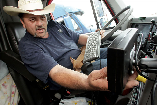 Truckers into sex